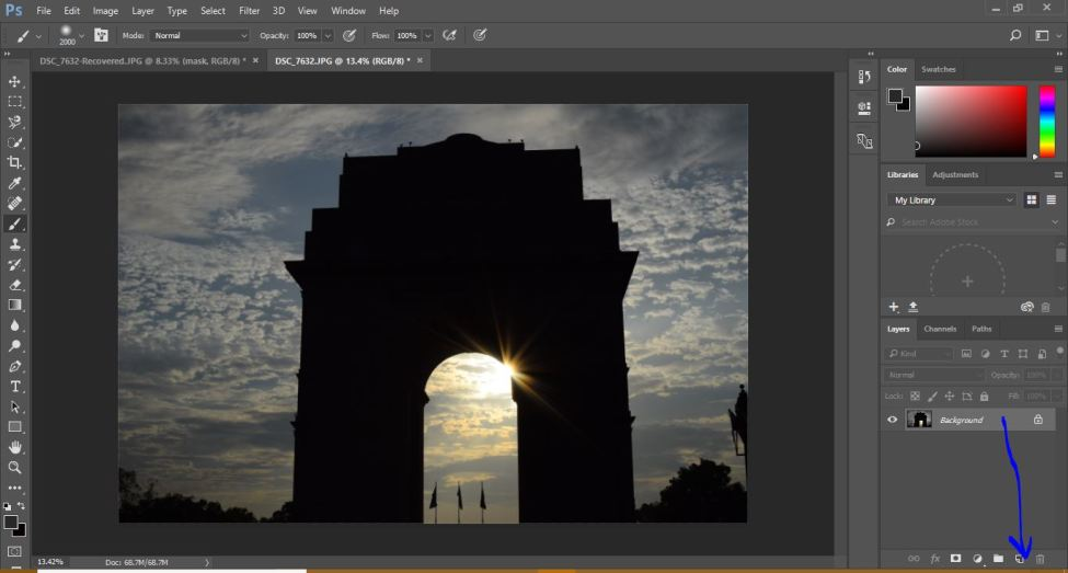 Mastering Zoom Burst Photography : Zoom Burst Effect in Photoshop