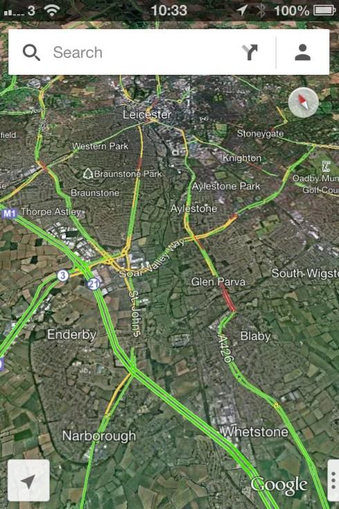 Google Maps Satellite View