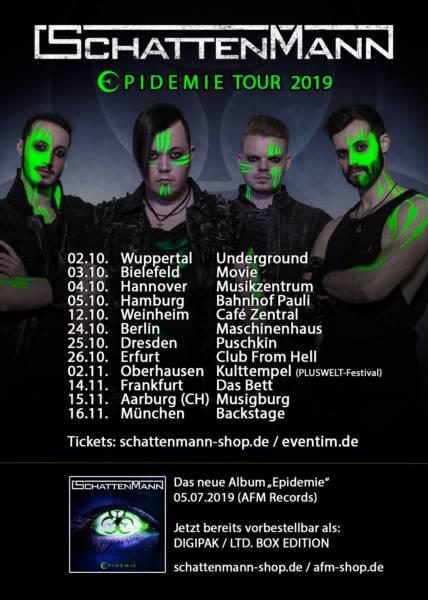 Schattenmann kündigt Tour für den Herbst 2019 an