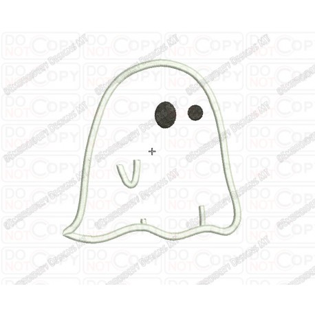 Ghost Cloth Halloween Applique Embroidery Design in 3x3