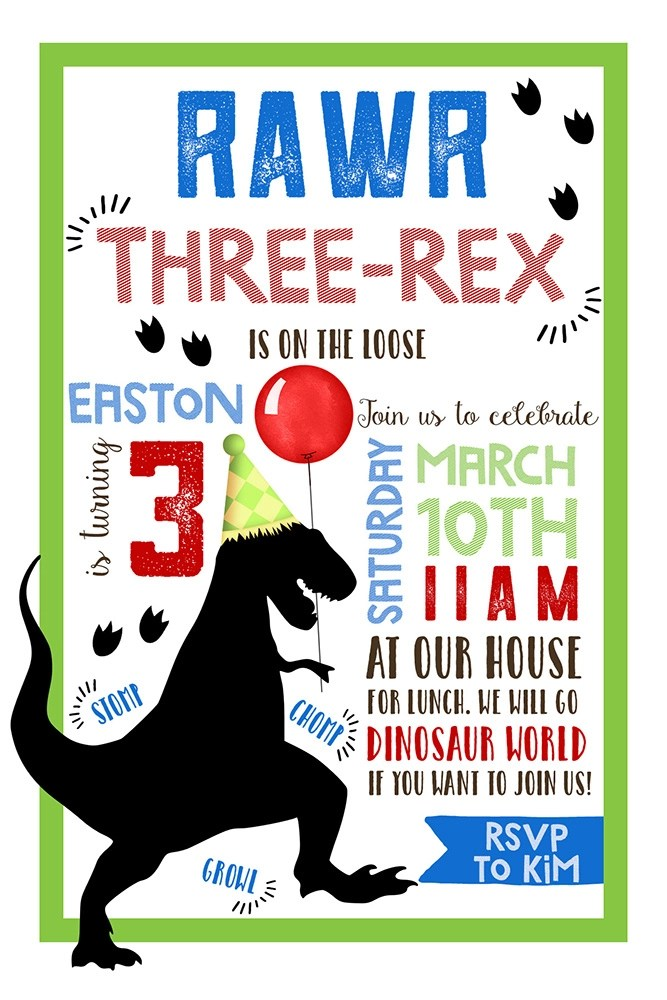 Invitation Birthday Party Home
