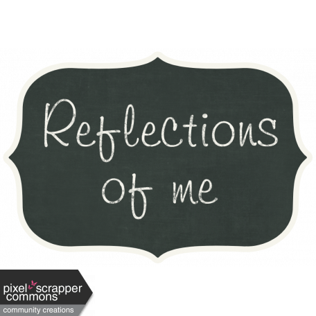 reflections chalkboard tag graphic