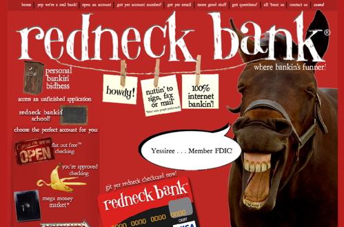 redneck bank spawns lovers