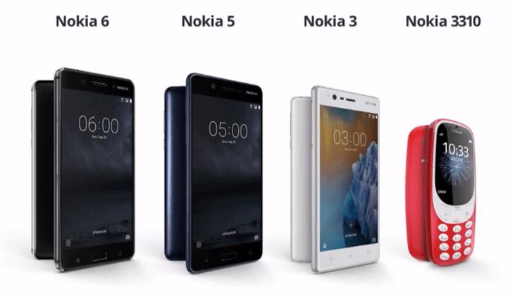 Nokia unveils the Nokia 5, 3, and a new 3310, also announces a global Nokia 6