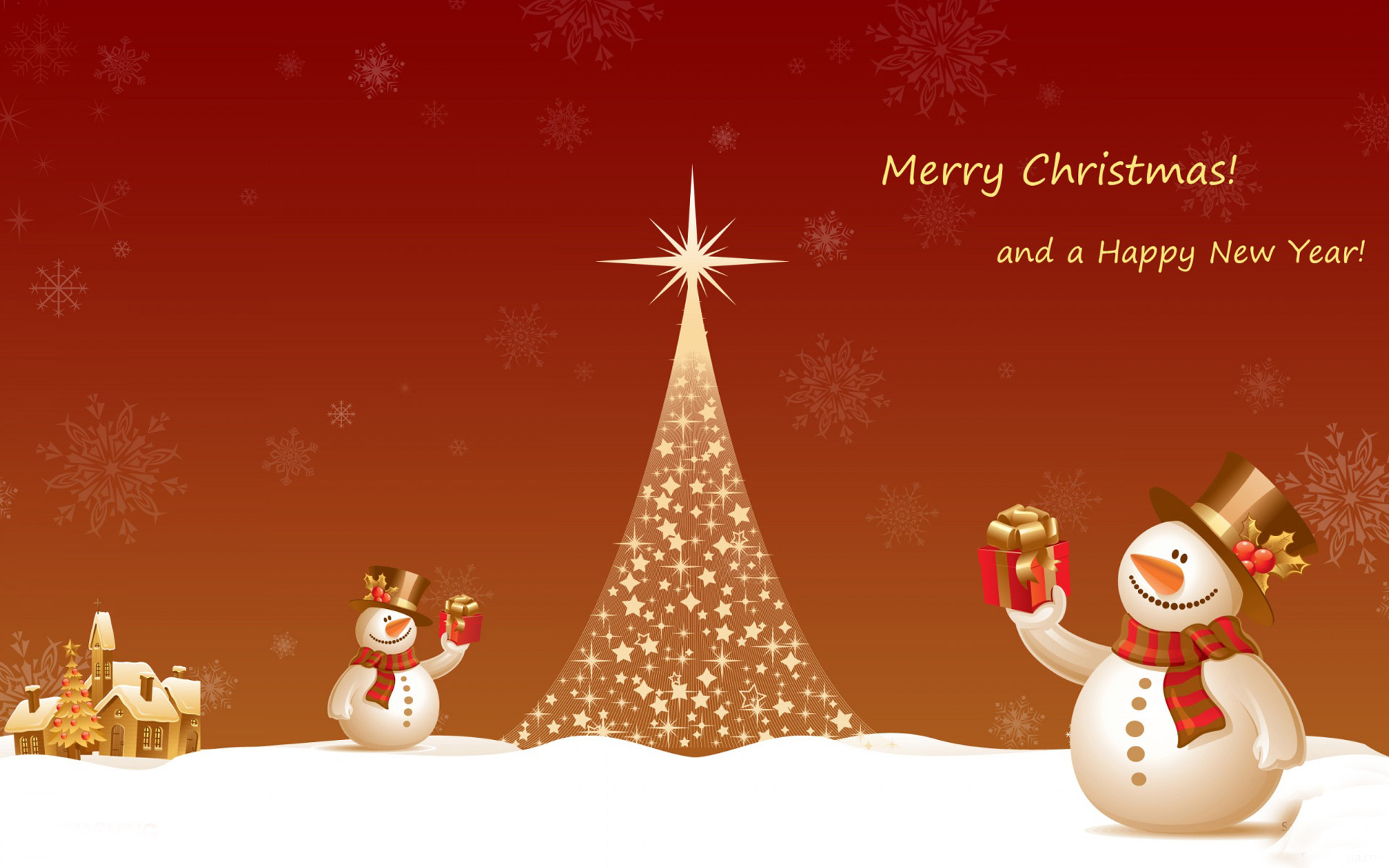 christmas new year wallpaper hd