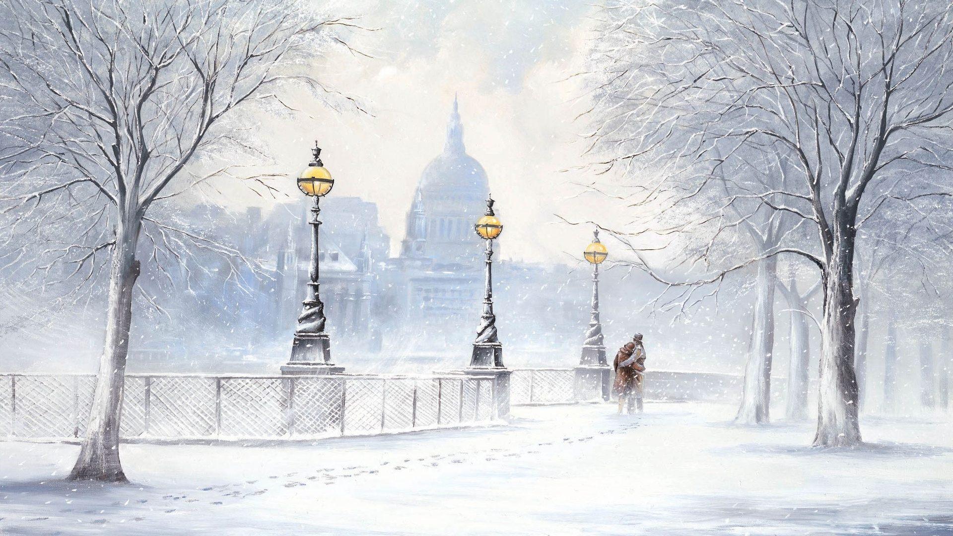Beautiful Winter Night Wallpaper  PixelsTalkNet