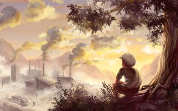 Landscape Color Drawing Hd Wallpaper