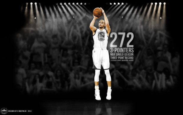 Stephen curry 3 points nba record by k1ngston deviantart com.