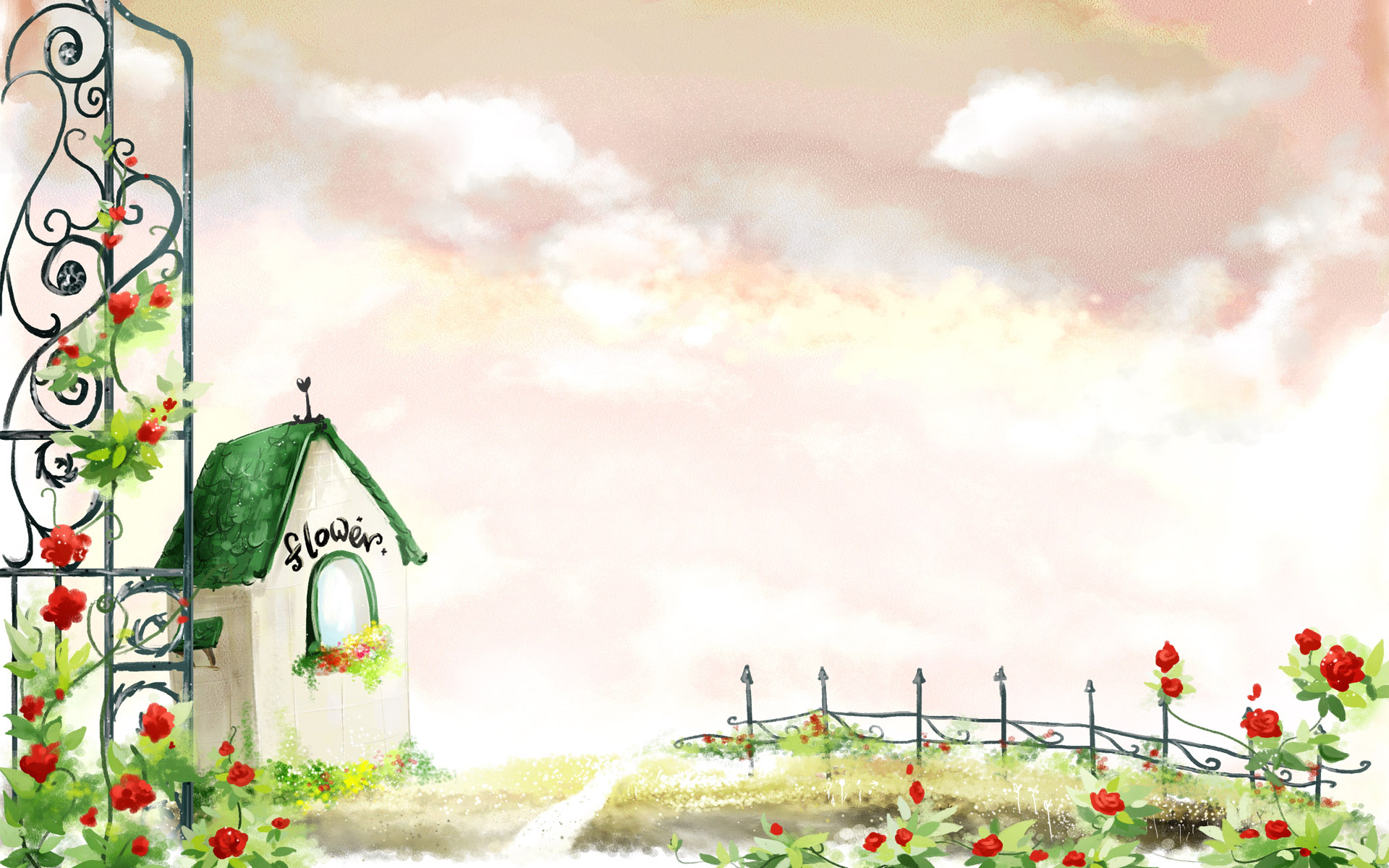 Lovely Girl Cartoon Wallpapers Girly Backgrounds Dektop Wallpapers Free Download