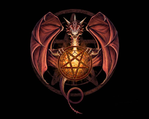Dragon with Pentagram
