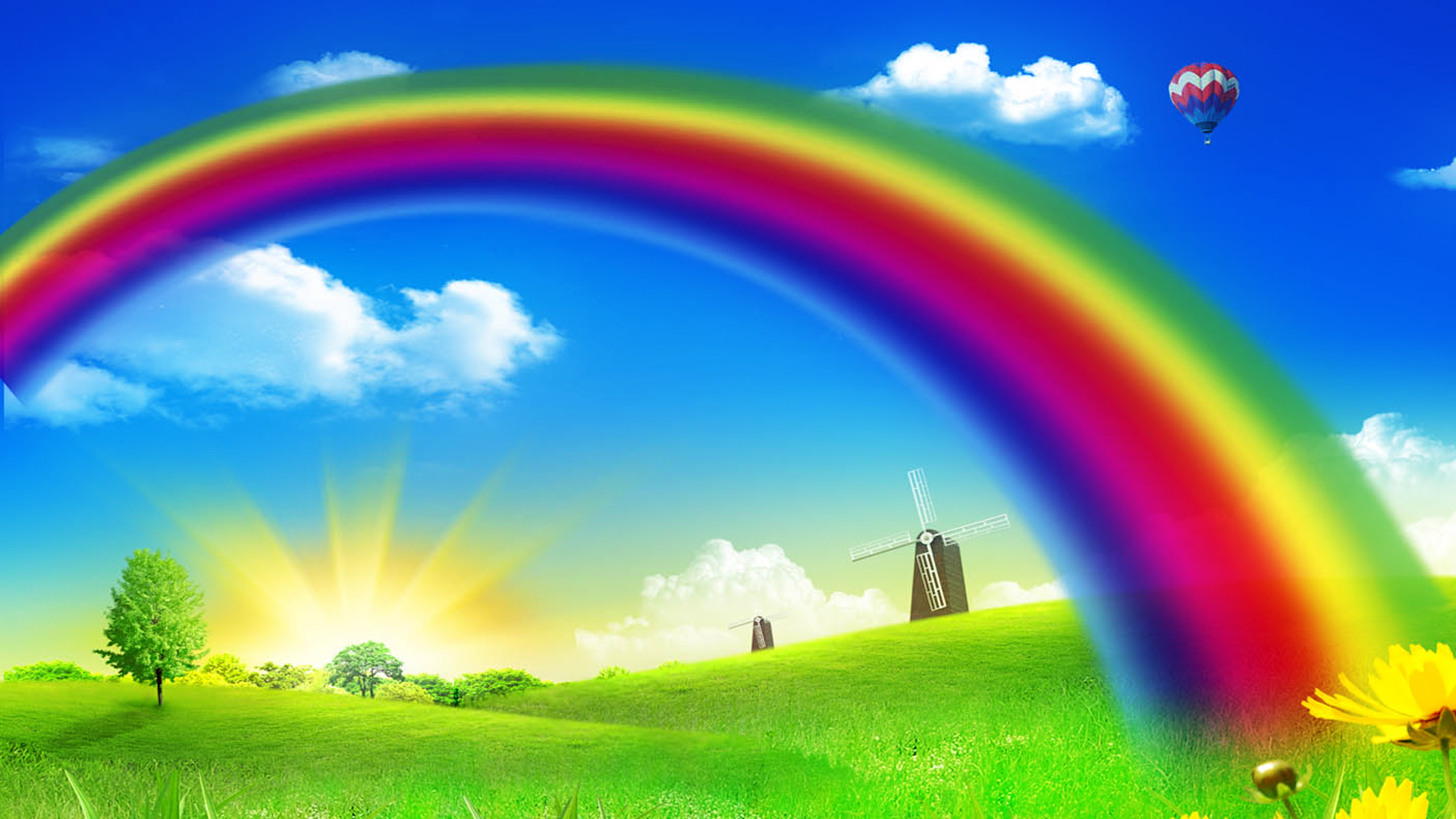 Free Download Rainbow Backgrounds