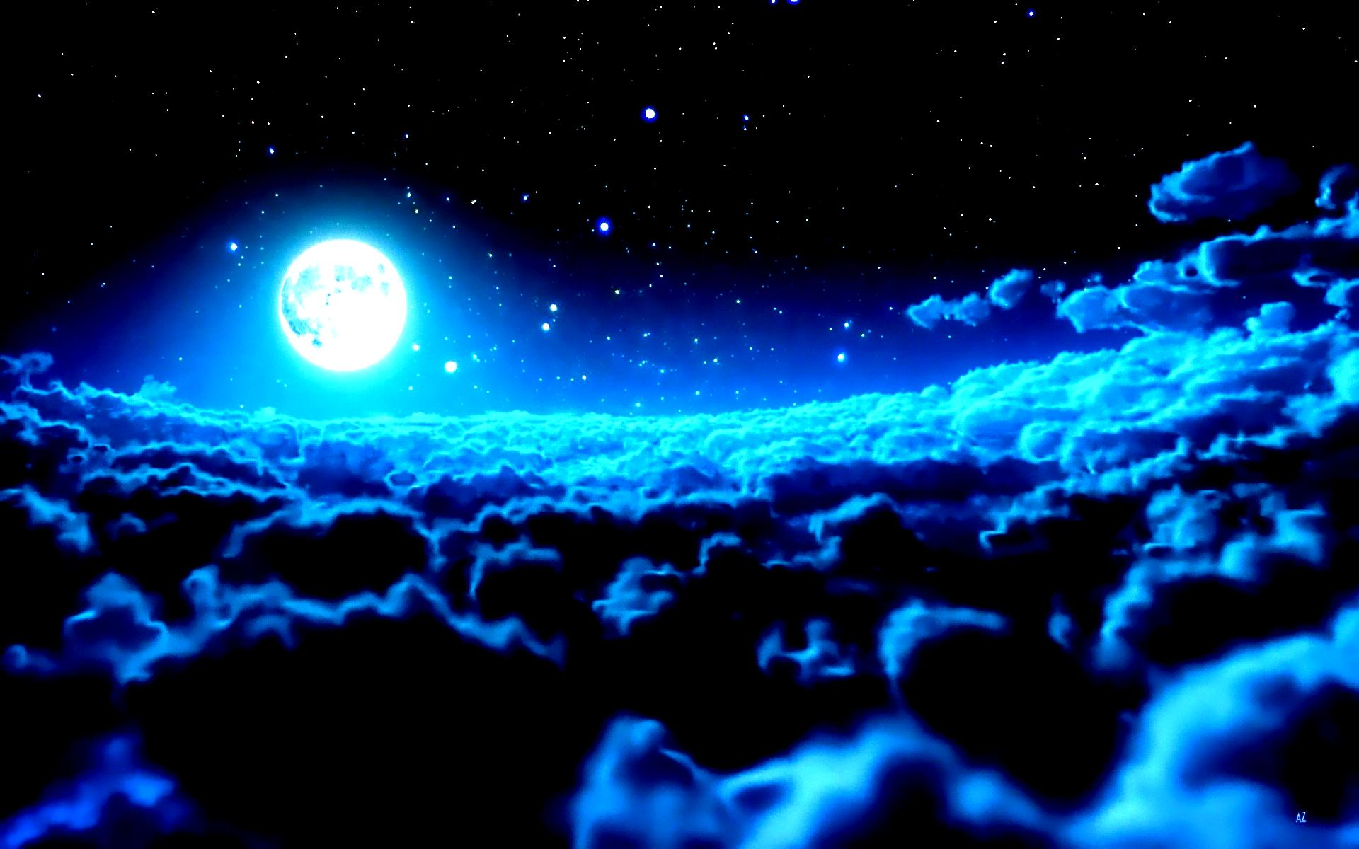 night cloud wallpaper hd