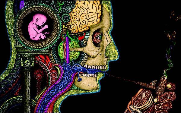 Trippy Psychedelic Art Smoke
