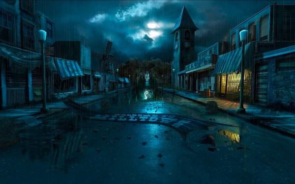 Dark Computer Backgrounds City