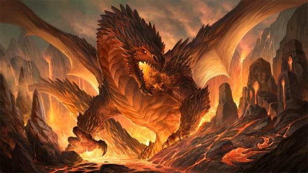 Beautiful Fire Dragon