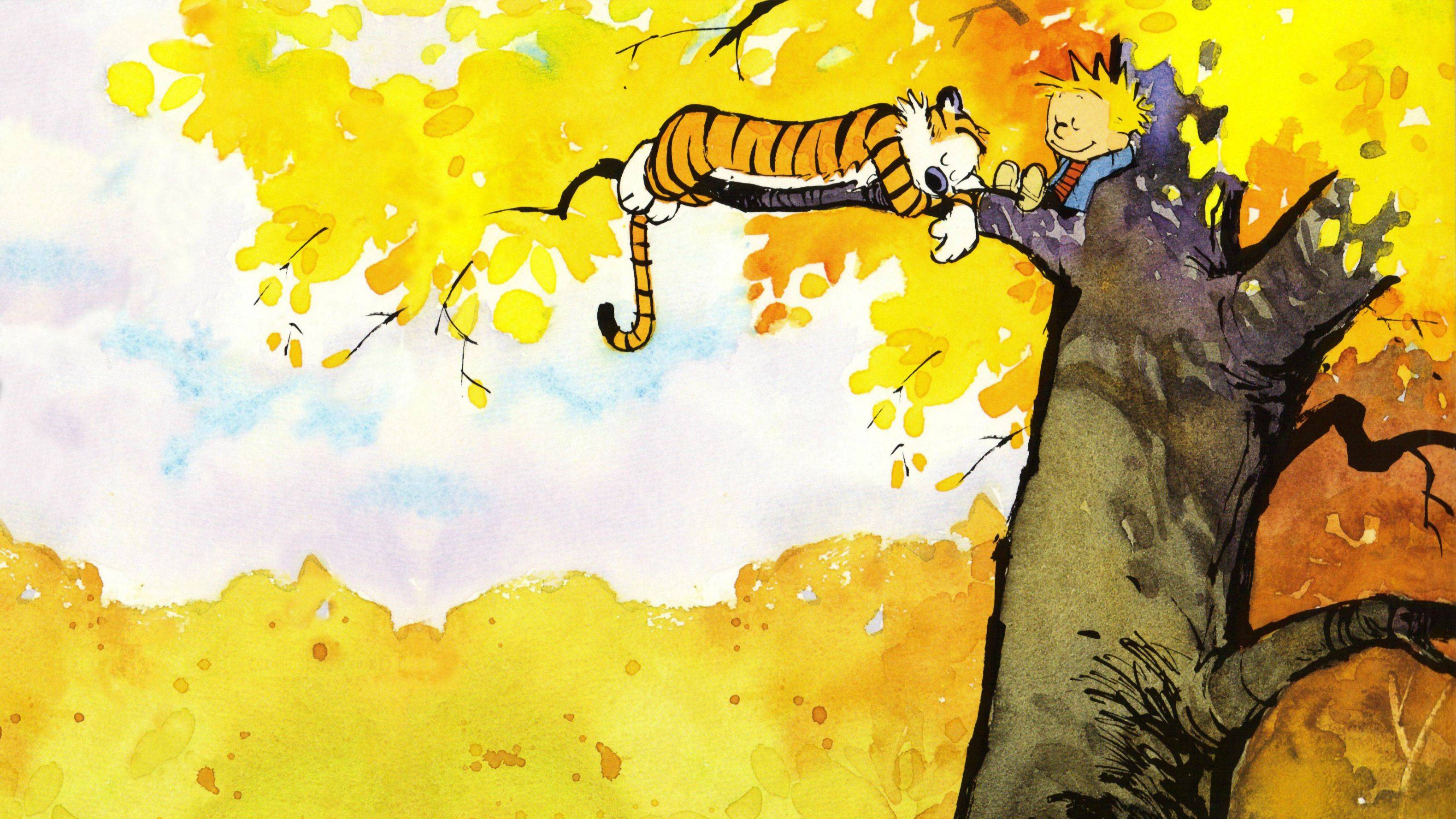 Calvin And Hobbes Fall Wallpaper Cute Calvin And Hobbes Wallpapers Pixelstalk Net