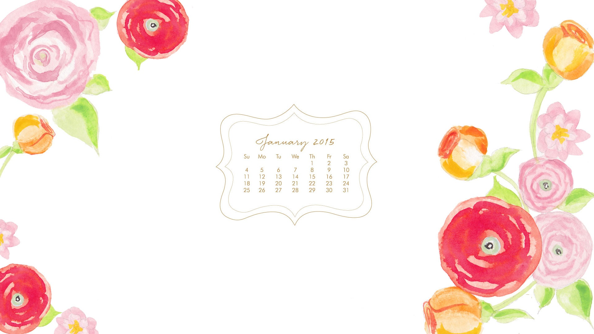 Cute Pretty Flower Calendar Wallpaper Desktop Watercolor Wallpaper Pixelstalk Net