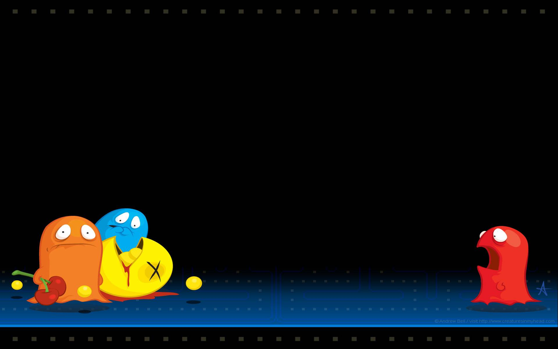 Dual Monitor Wallpaper Fall Pacman Wallpapers Pixelstalk Net