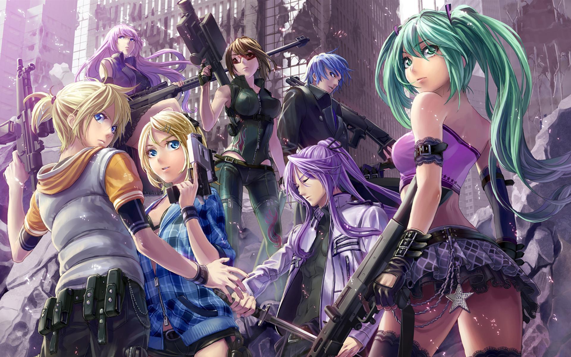 Usa Anime Gun Girl Wallpaper 1920x1080 Vocaloid Hd Wallpapers Pixelstalk Net