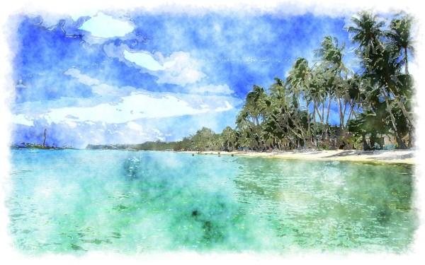 Tropical Watercolor Paintings