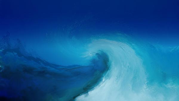 Blue Watercolor Wallpaper