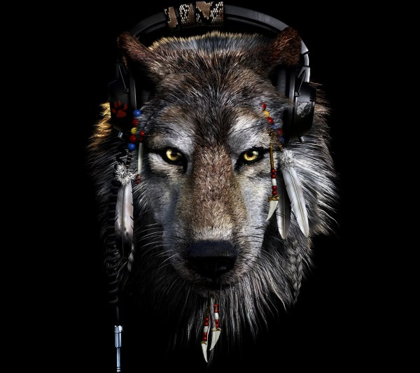 Native American Indians and Wolves Wallpaper