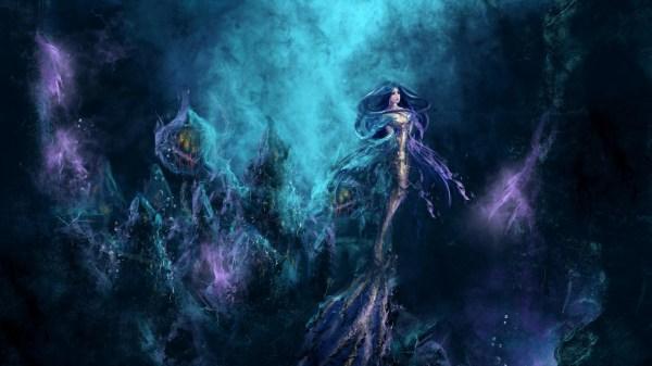 Anime Mermaid Underwater Drawing