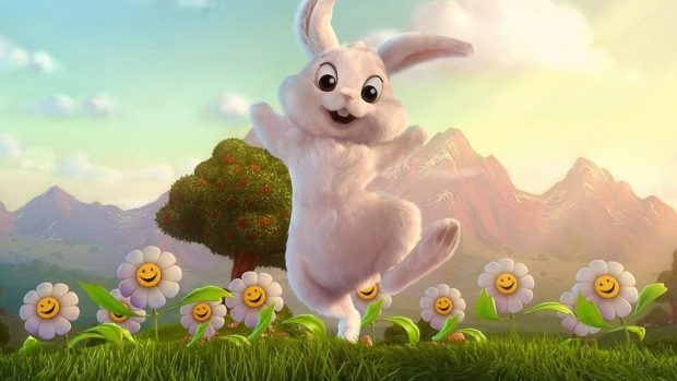 Cute Cartoon Bunny Wallpapers Happy Wallpapers Hd Pixelstalk Net