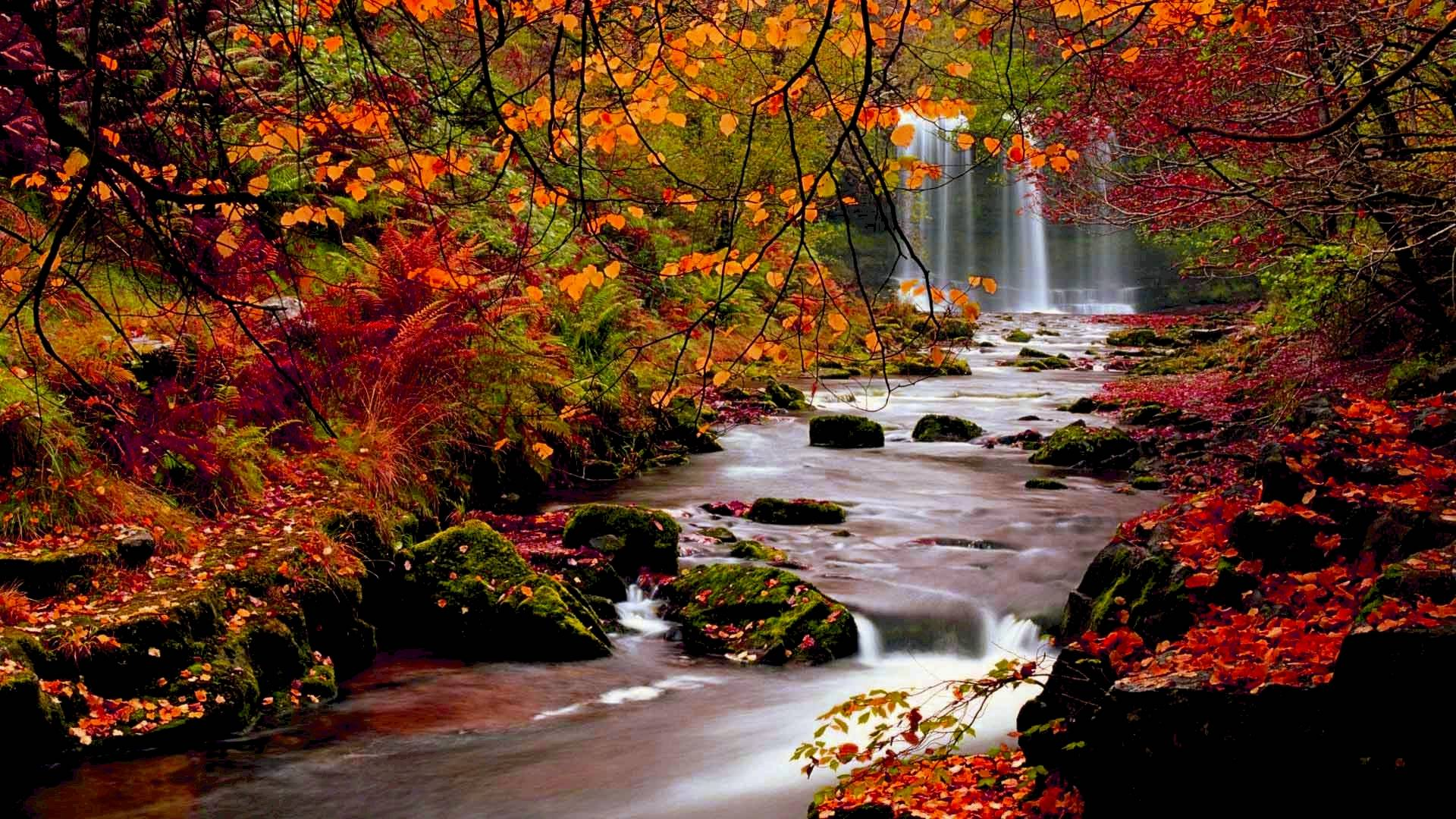 Multonomah Falls Wallpaper Desktop Fall Backgrounds Free Download Pixelstalk Net