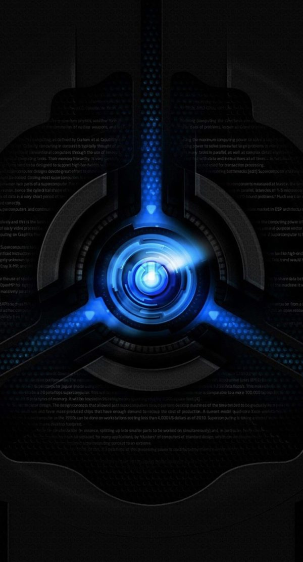 Black and Blue Cool iPhone Wallpapers