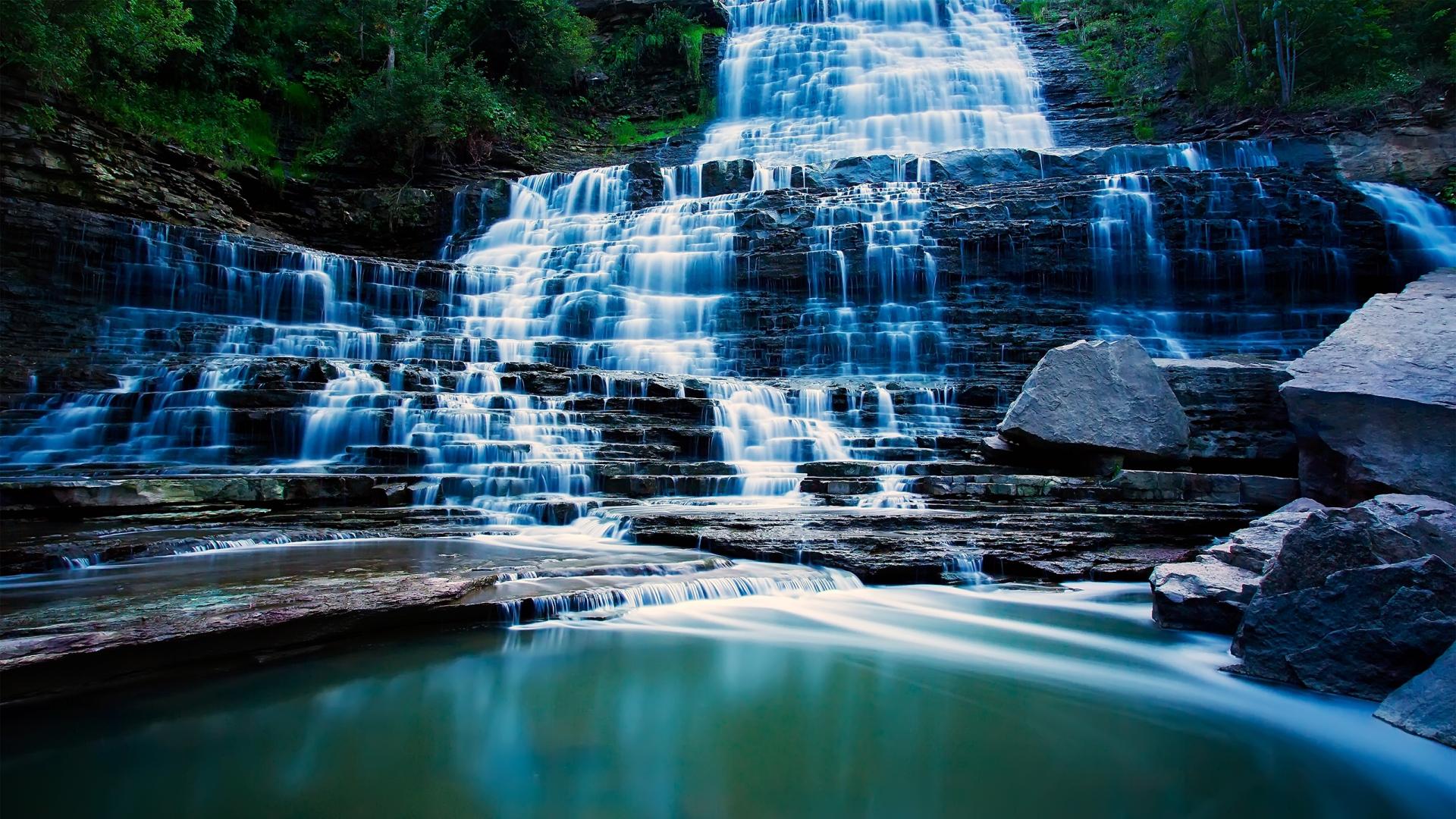 Fall Wallpaper For Desktop Free Waterfall Backgrounds Free Pixelstalk Net