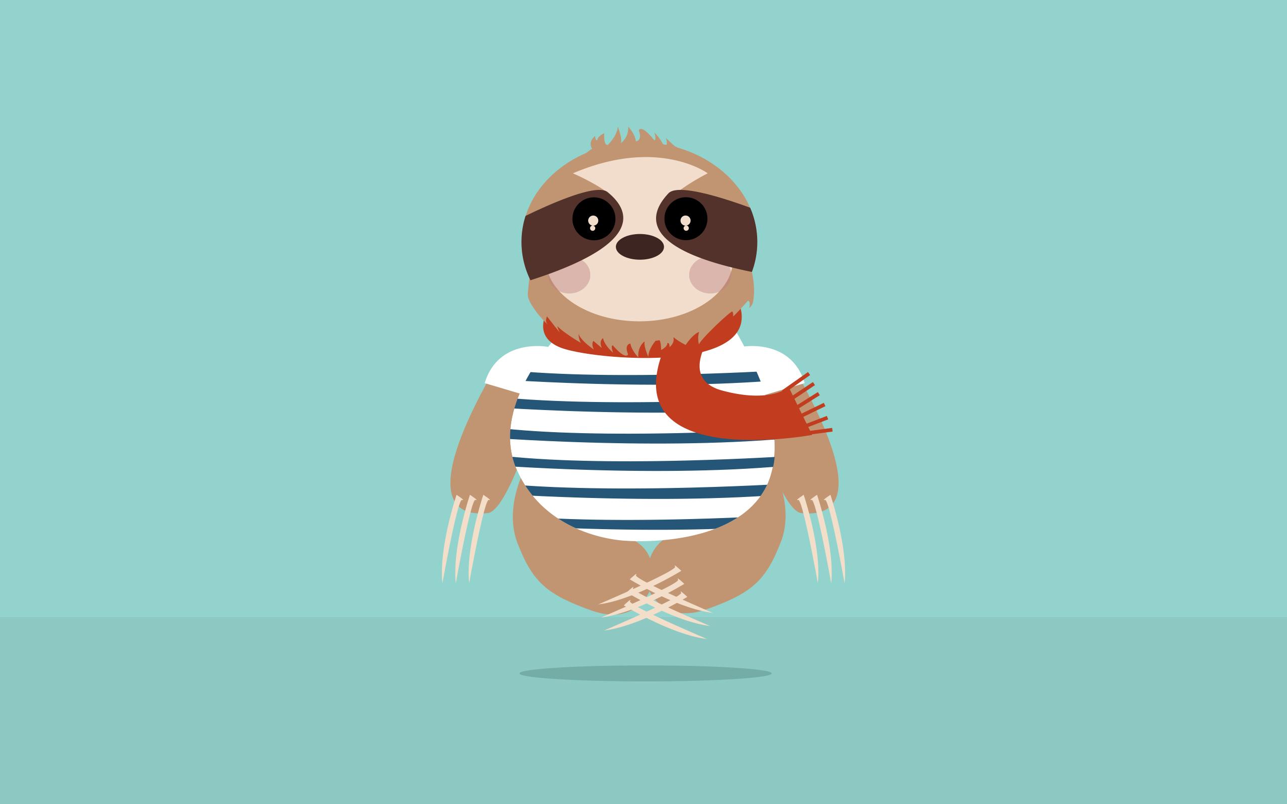 Cute Cartoon Sloth Wallpaper Sloth Backgrounds Hd Pixelstalk Net