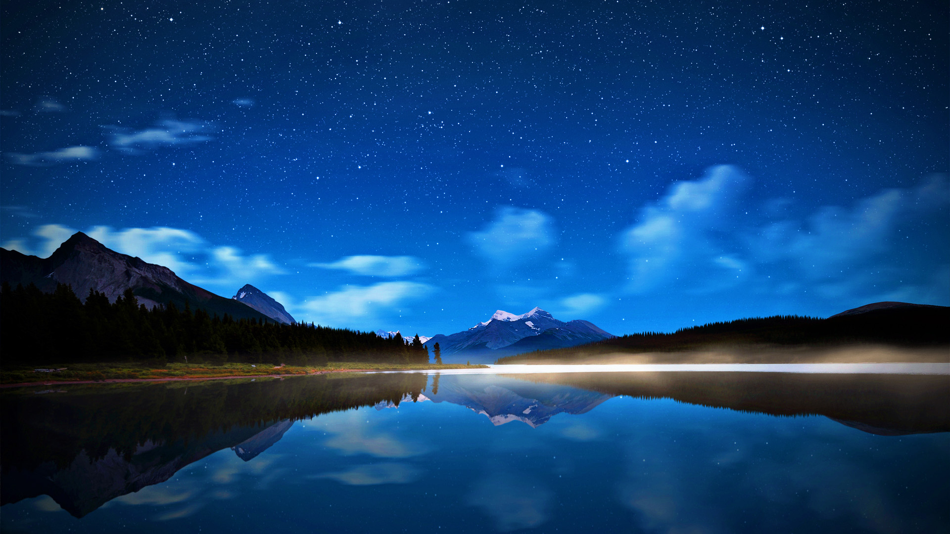 Full Screen Desktop Fall Wallpaper Night Sky Backgrounds Pixelstalk Net