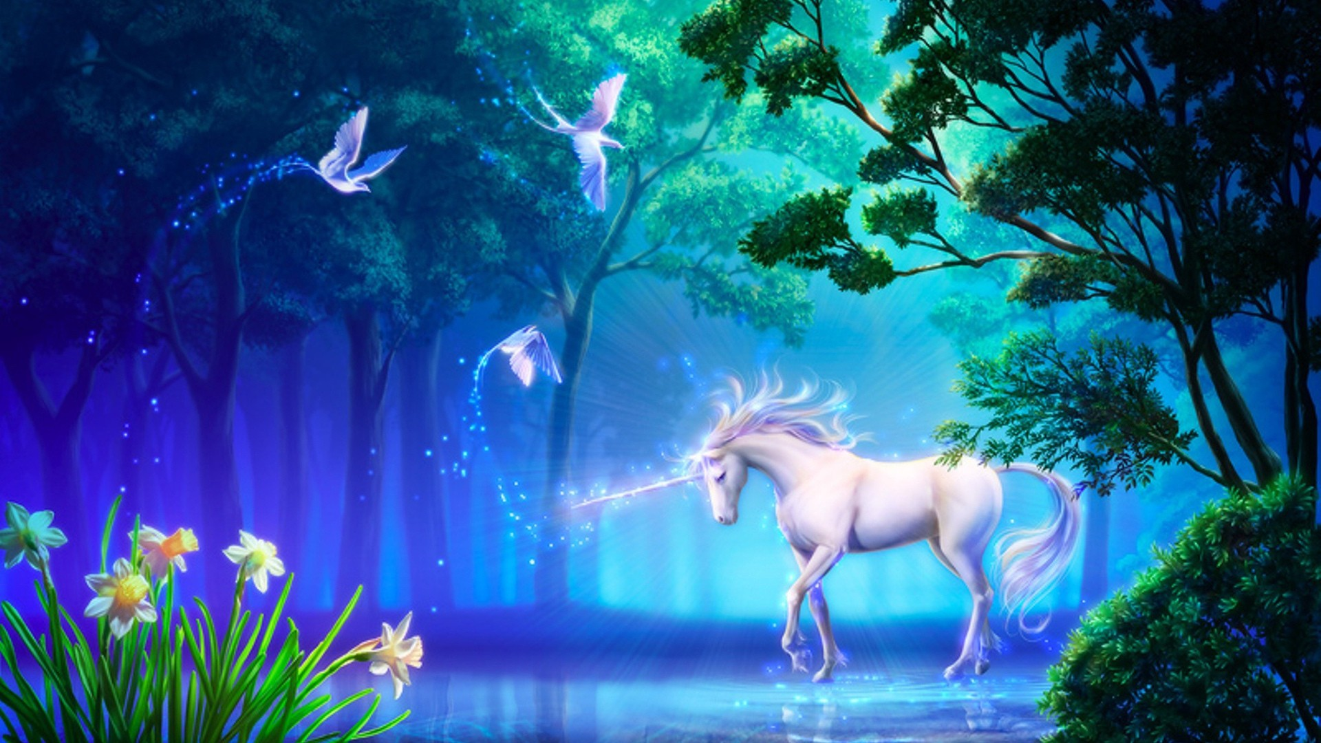 Full Screen Desktop Fall Wallpaper Unicorn Wallpapers Hd Pixelstalk Net
