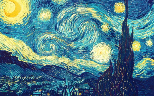 Van Gogh Starry Night Desktop Background