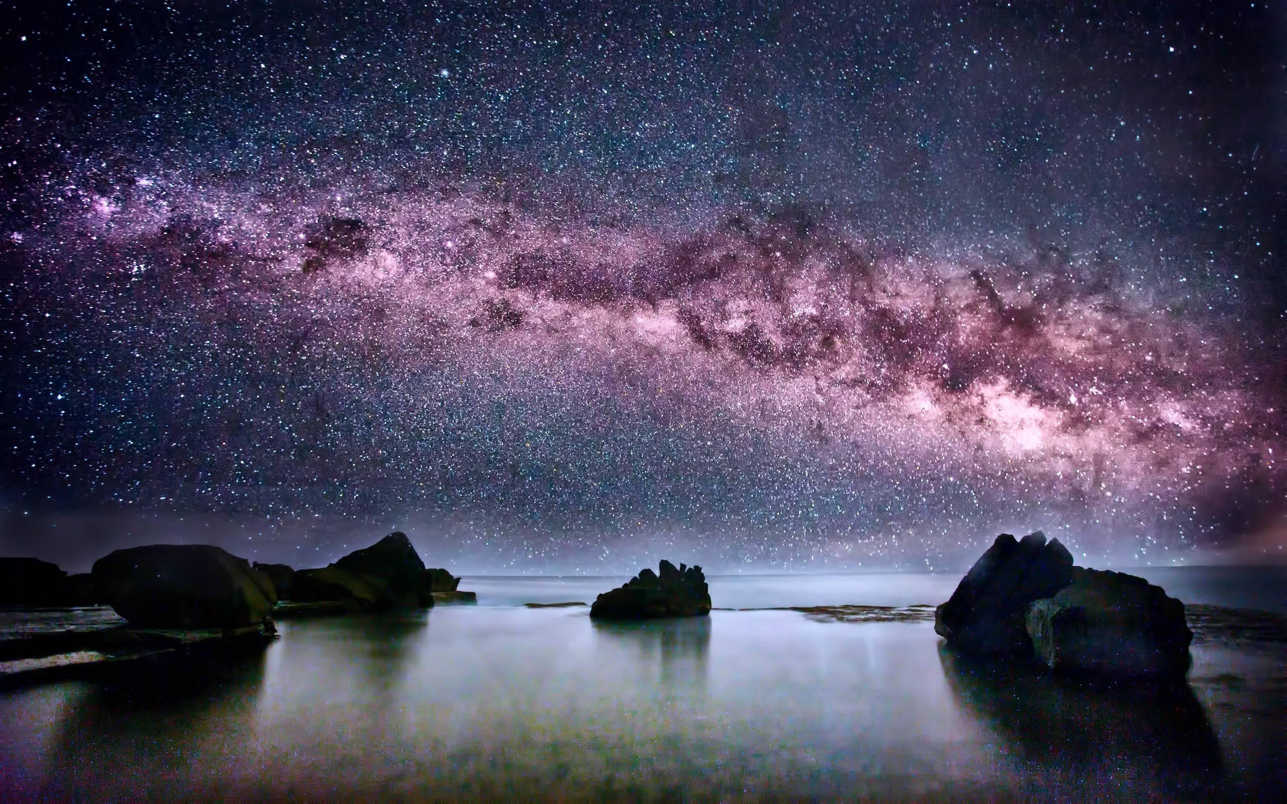Stars Wallpaper With Quotes Milky Way Galaxy Wallpapers Hd Pixelstalk Net