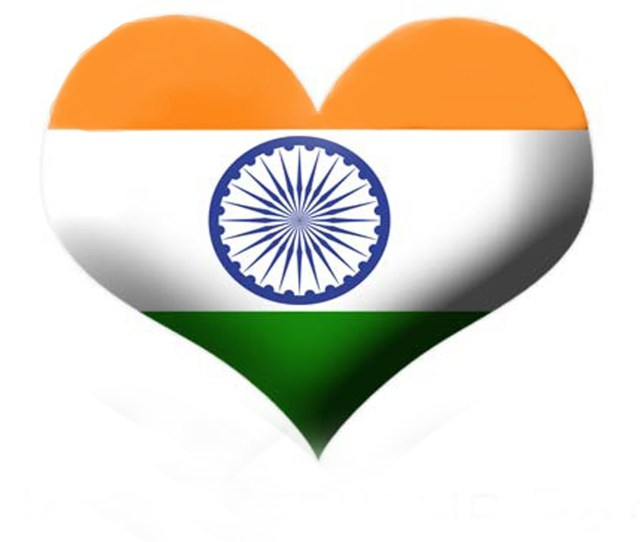 Indian Flag Love Background