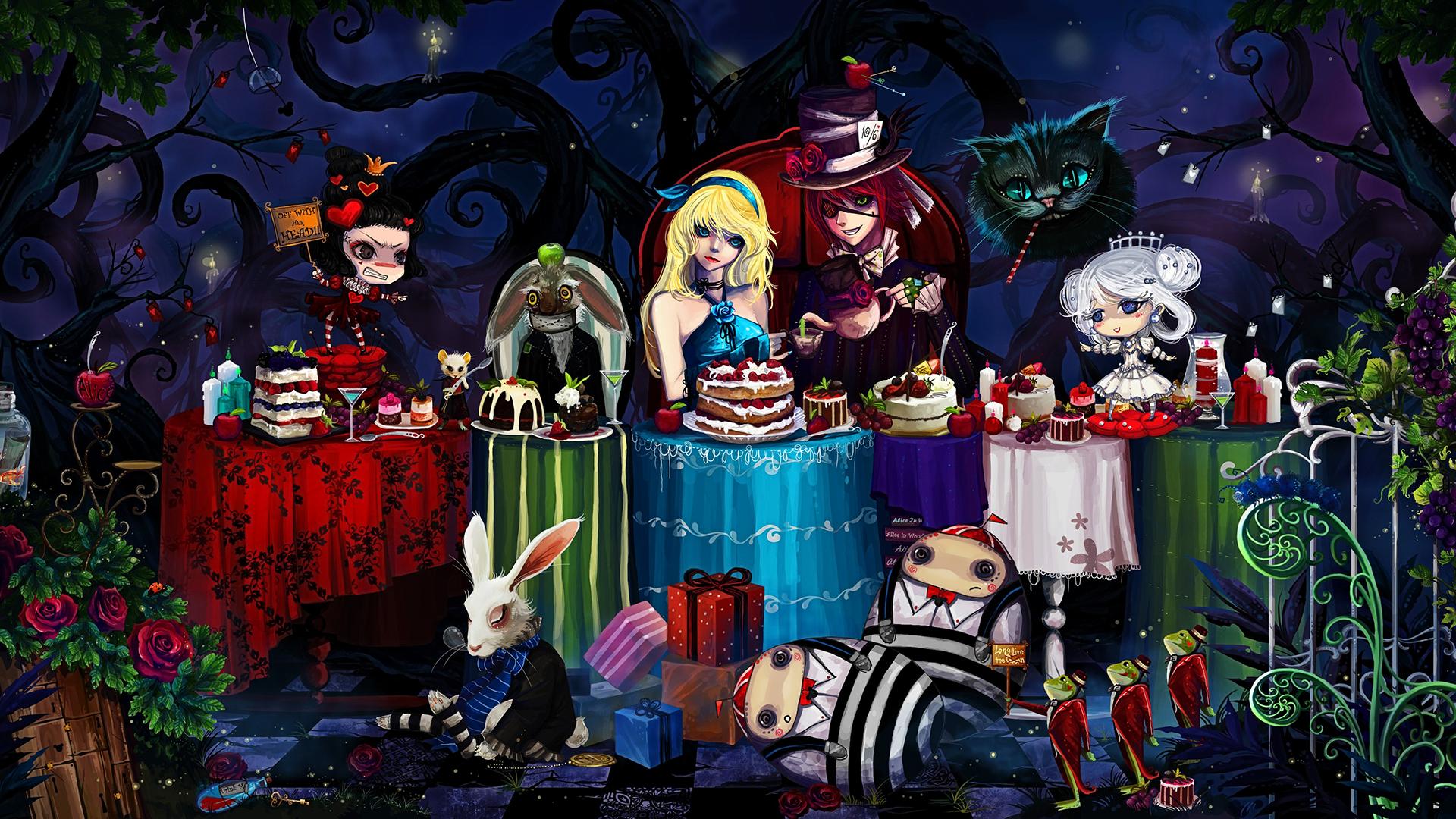 Harry Potter Fall Wallpaper Hd Alice In Wonderland Wallpaper Pixelstalk Net