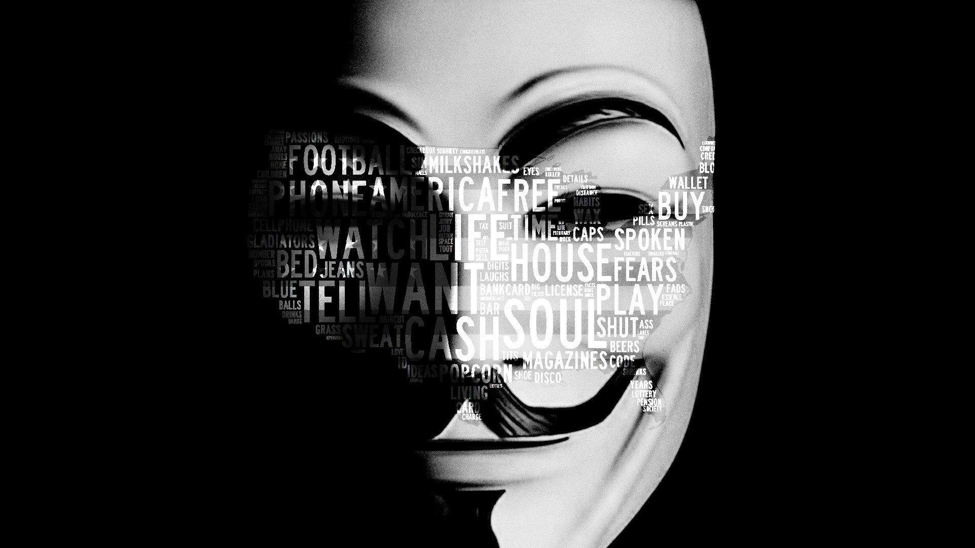 Fall Typography Laptop Wallpaper Anonymous Mask Wallpapers Hd Pixelstalk Net