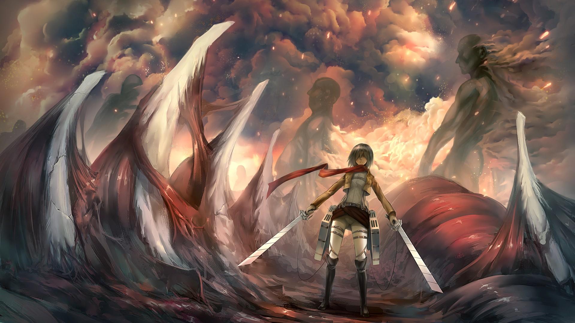 Free Fall Widescreen Wallpaper Attack On Titan Wallpaper For Desktop Pixelstalk Net