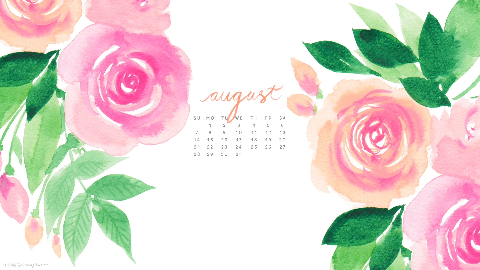 Watercolor Wallpaper Backgrounds Quote Free Download August Background Pixelstalk Net