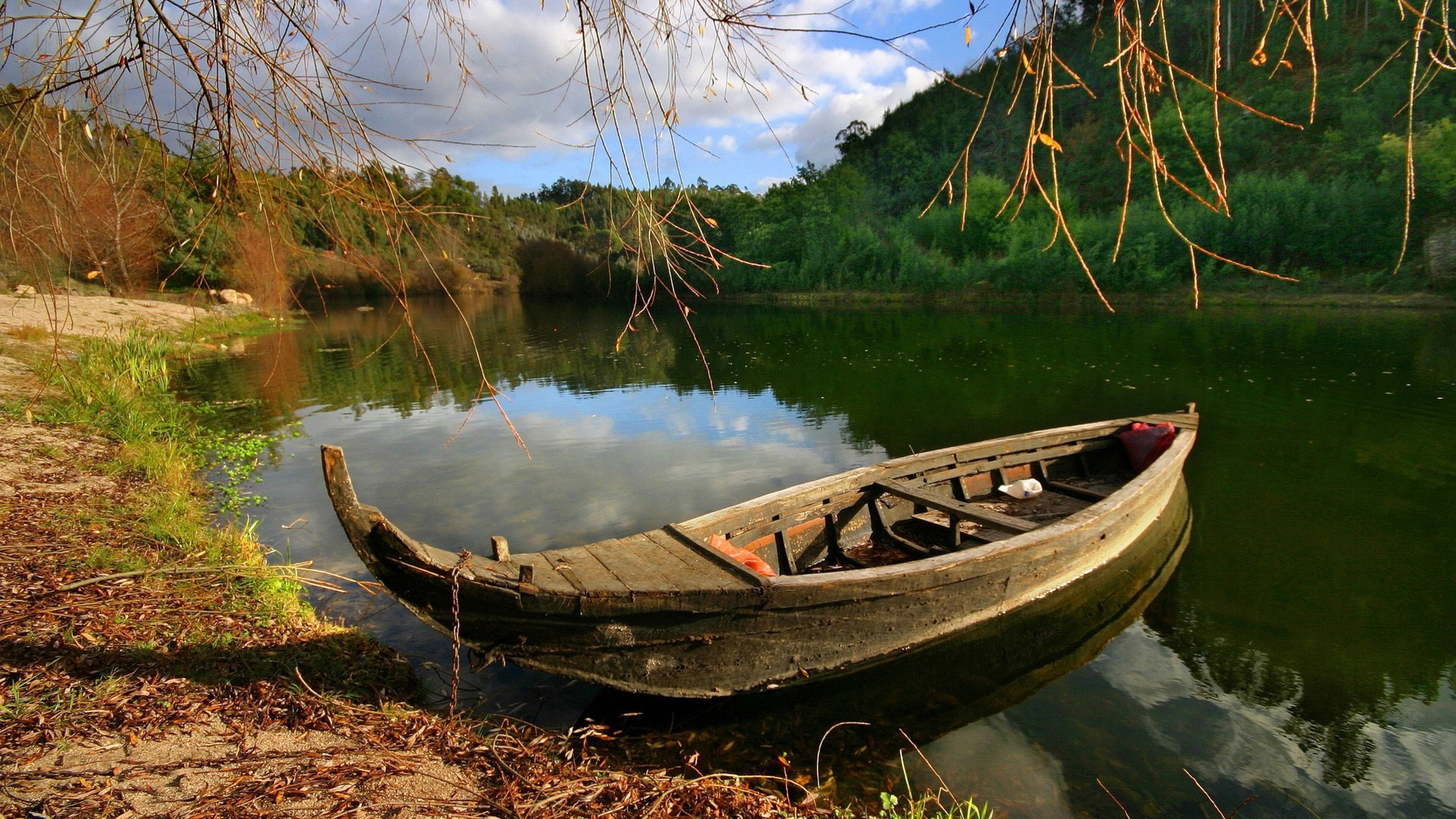 Beautiful Fall Landscape Wallpaper Boat Wallpapers Hd Pixelstalk Net