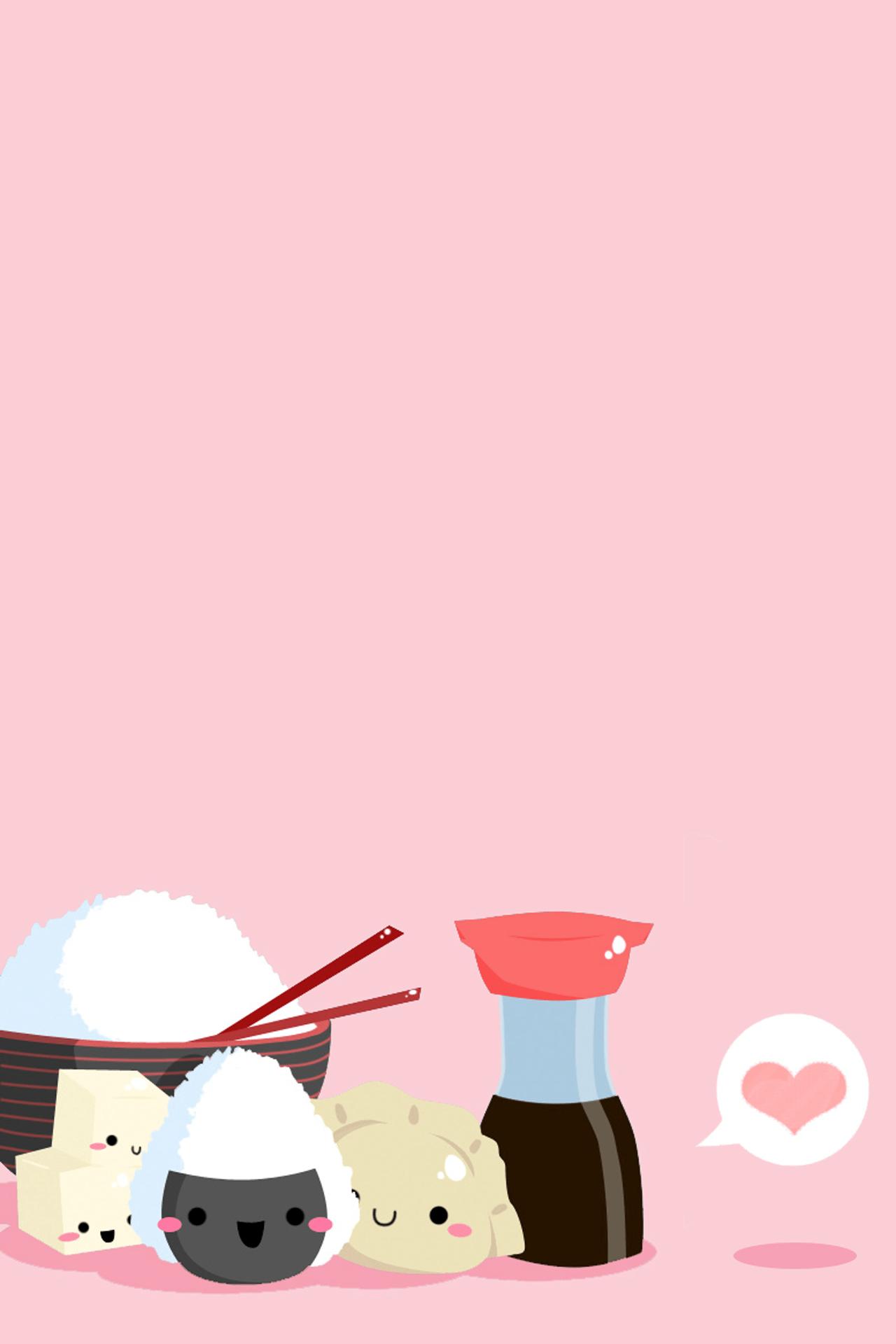 Onigiri Cute Wallpaper Kawaii Iphone Wallpapers Pixelstalk Net
