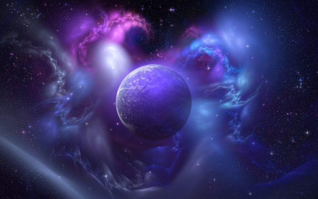 Blue and Purple Widescreen Background.