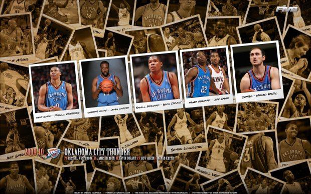 Oklahoma City Thunder Basketball Club Wallpaper 2.