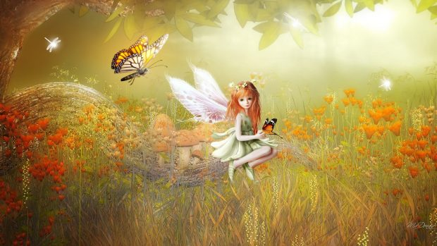 A Happy Girl Wallpaper Thanksgiving Fairy Wallpapers Pixelstalk Net