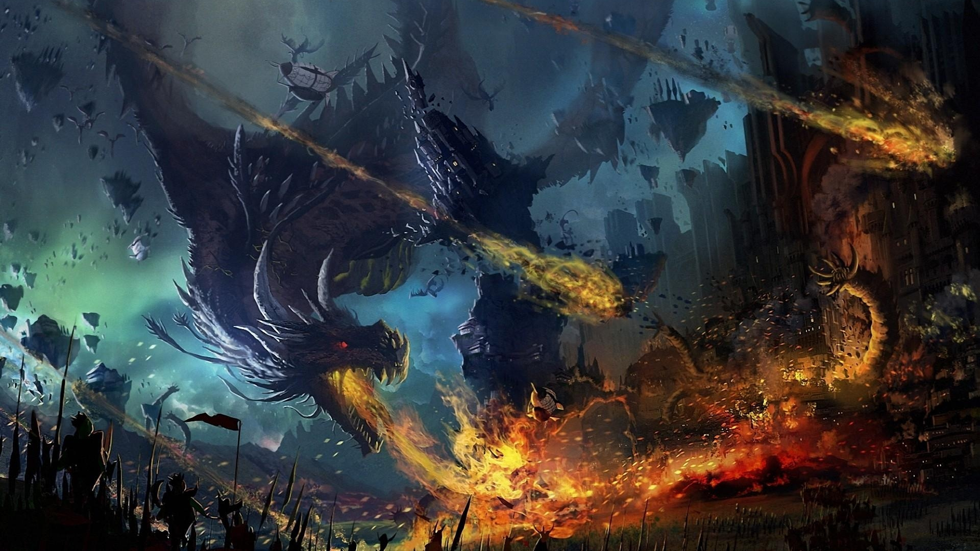 Fall Wallpaper For Cell Phone Dragon Fall Fire Flame War Battle Backgrounds 1920x1080