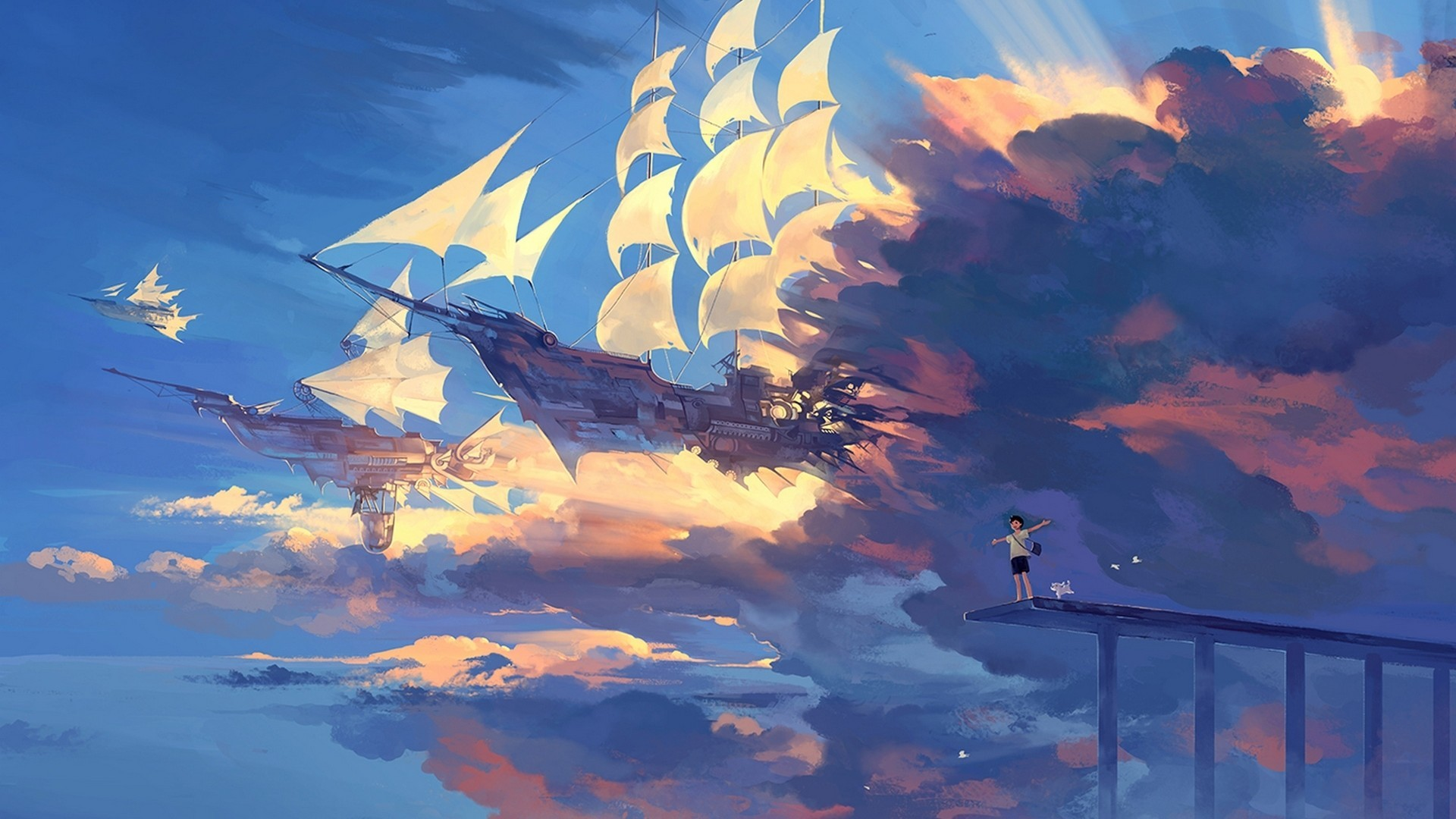 Phone Wallpaper Boy And Girl Sunset Anime Free Anime Landscape Backgrounds Pixelstalk Net