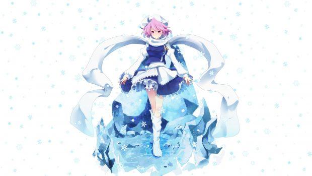 Falling Snow Desktop Wallpaper Anime Girl Style Image Pixelstalk Net