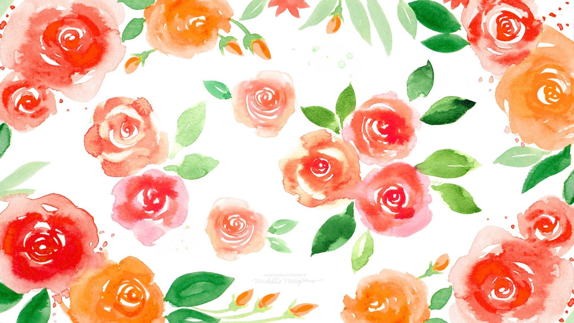 Fall Border Wallpaper For Desktop Floral Backgrounds Pixelstalk Net
